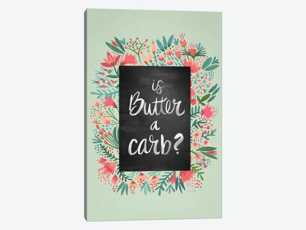 Butter Carb Flowers Mint by Cat Coquillette 1-piece Canvas Art