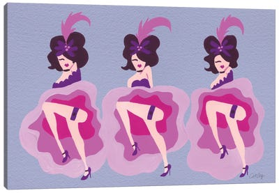 Cancan Purple Canvas Art Print