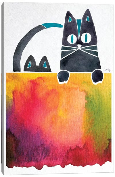 Cats by Cat Coquillette Canvas Art Print