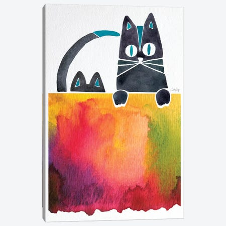 Cats 3-Piece Canvas #CCE99} by Cat Coquillette Canvas Print