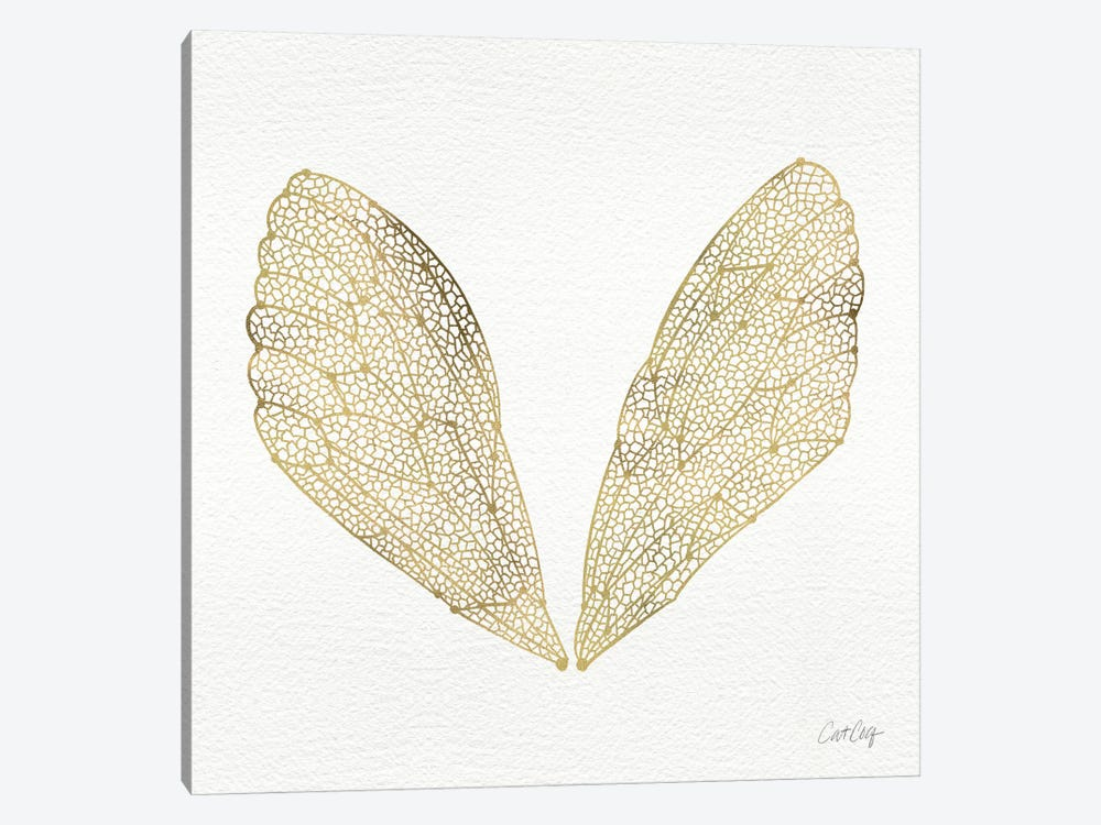Cicada Wings Gold Artprint 1-piece Canvas Print