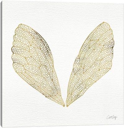 Cicada Wings Gold Canvas Art Print