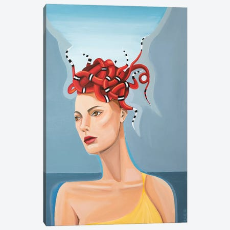 Kingston Medusa Canvas Print #CCG10} by CeCe Guidi Canvas Print