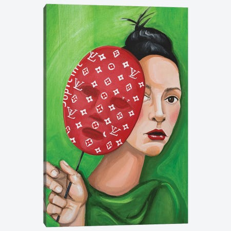 Louis Vuitton Supreme Mask Canvas Print #CCG11} by CeCe Guidi Canvas Art Print