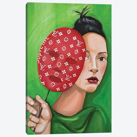 Louis Vuitton Supreme Mask Canvas Print #CCG11} by CeCe Guidi Canvas Art Print