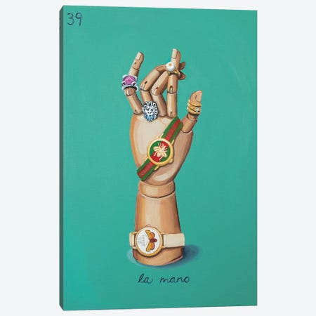 The Hand with Gucci Canvas Print #CCG14} by CeCe Guidi Canvas Wall Art
