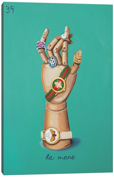 The Hand with Gucci Canvas Art Print