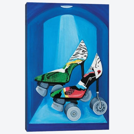 YSL Roller Skates Canvas Print #CCG17} by CeCe Guidi Canvas Wall Art