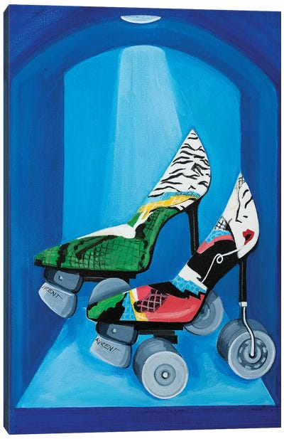 YSL Roller Skates Canvas Art Print