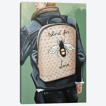 Blind for Love Backpack Canvas Print #CCG18} by CeCe Guidi Art Print