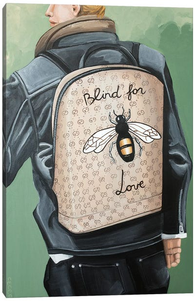 Blind for Love Backpack Canvas Art Print