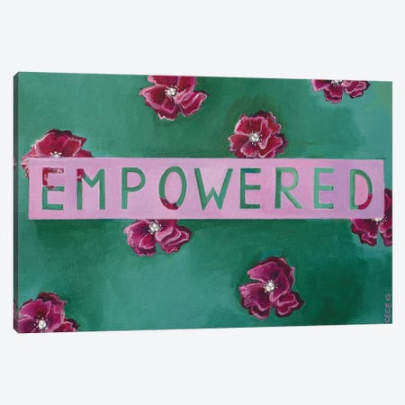 Empowered Canvas Print #CCG1} by CeCe Guidi Art Print