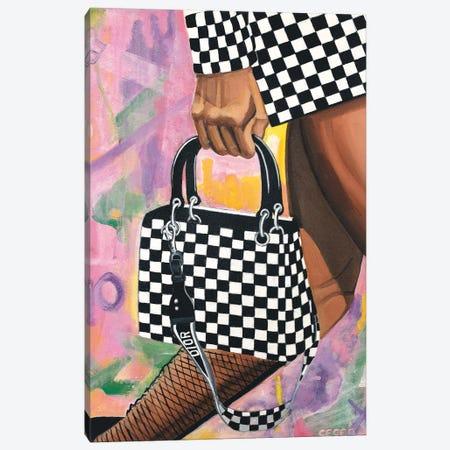 Checkered Lady Dior Bag Canvas Print #CCG20} by CeCe Guidi Canvas Artwork