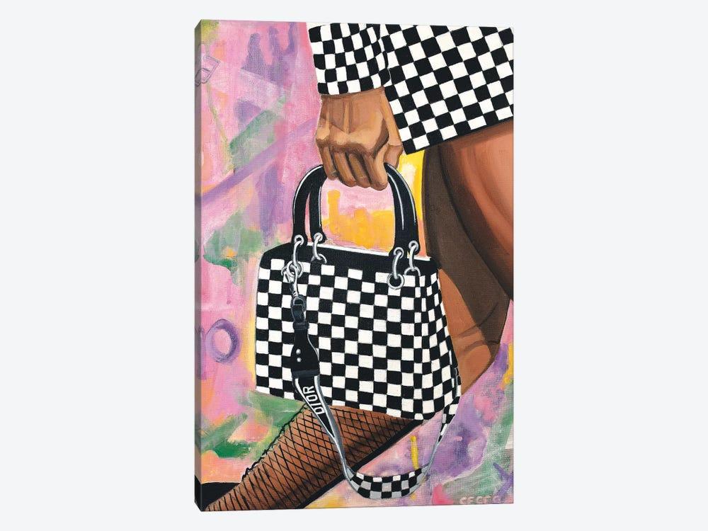 Checkered Lady Dior Bag by CeCe Guidi 1-piece Canvas Wall Art