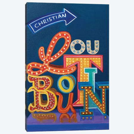 Christian Louboutin Neon Sign Canvas Print #CCG21} by CeCe Guidi Canvas Art