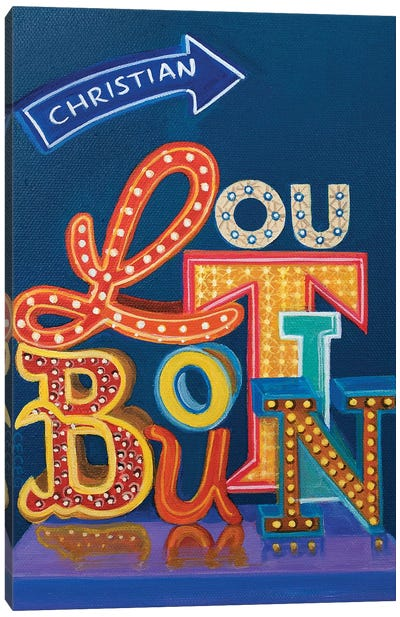 Christian Louboutin Neon Sign Canvas Art Print