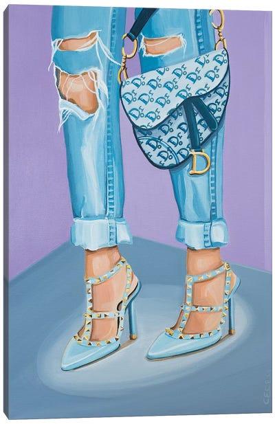 Dior Saddle Bag and Valentino Heels Canvas Art Print