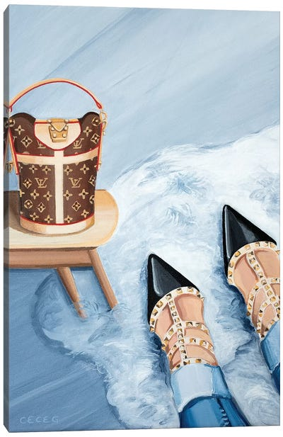 Louis Vuitton Monogram Bag & Valentino Heels Canvas Art Print