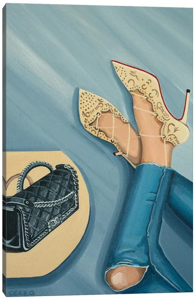 Chanel Boy Bag And Louboutin Heels Canvas Art Print