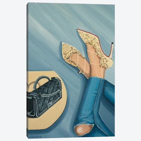 Chanel Boy Bag And Louboutin Heels Canvas Print #CCG28} by CeCe Guidi Canvas Wall Art