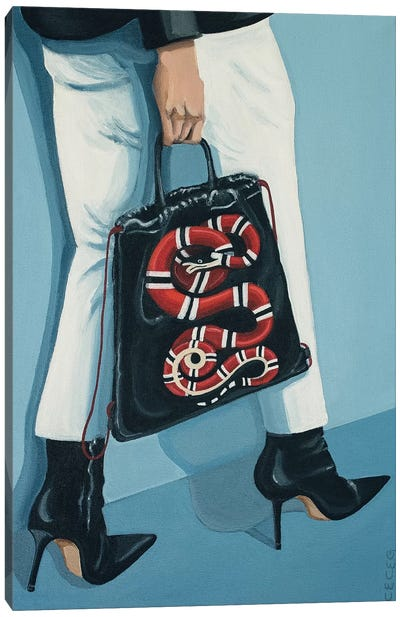 Gucci King Snake Backpack Canvas Art Print