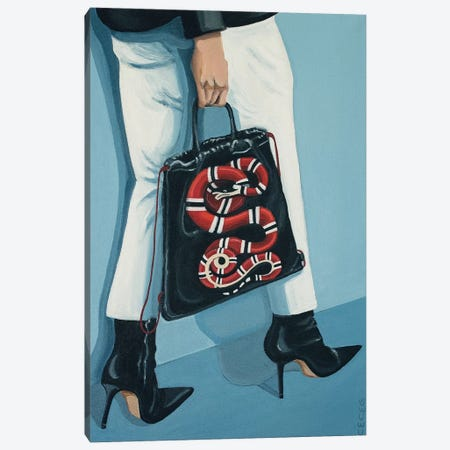 Gucci King Snake Backpack Canvas Print #CCG29} by CeCe Guidi Canvas Wall Art