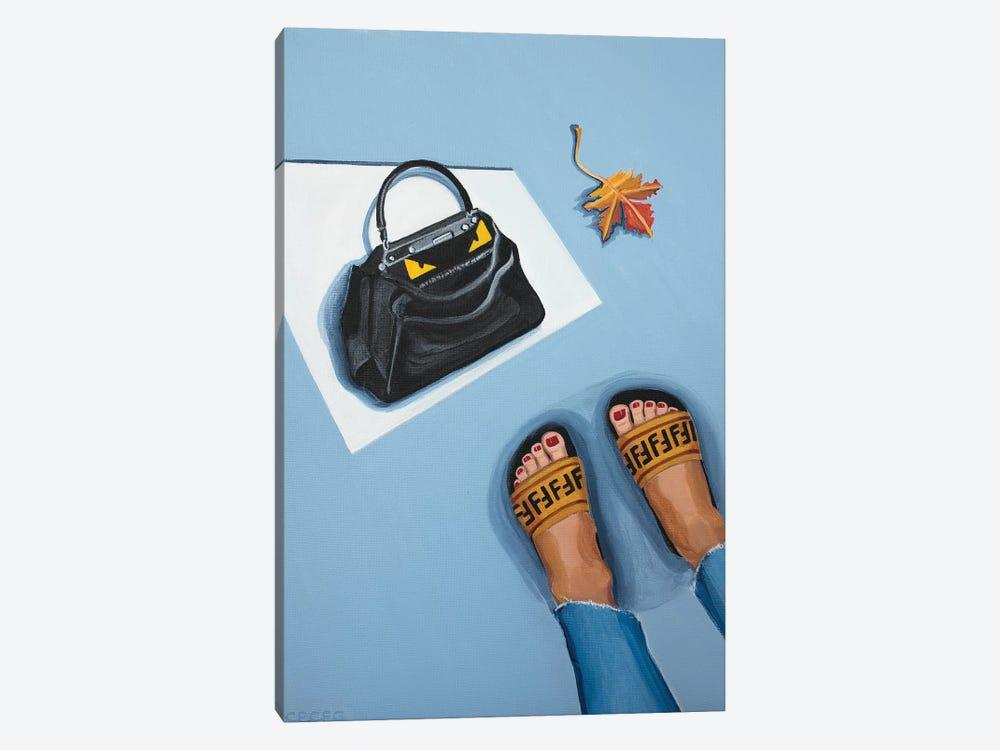 Fendi Peekaboo Bag and Logo Slides by CeCe Guidi 1-piece Canvas Art