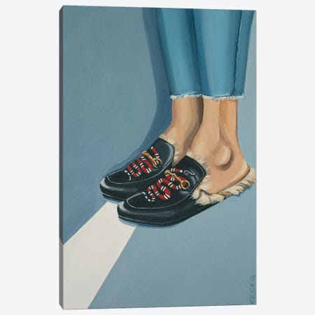 Gucci Snake Loafers On The Street Canvas Print #CCG30} by CeCe Guidi Art Print