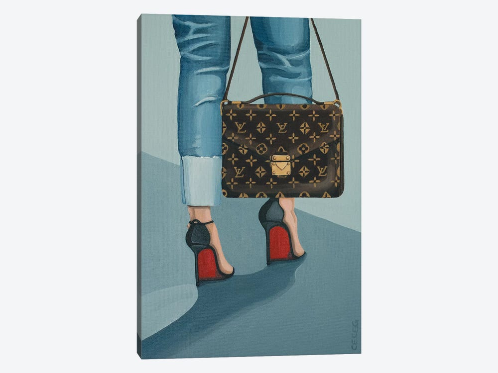 Louis Vuitton Bag And Louboutin Heels by CeCe Guidi 1-piece Canvas Art