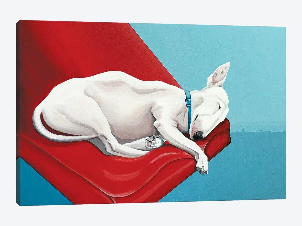 Sleeping Bull Terrier by CeCe Guidi 1-piece Canvas Art