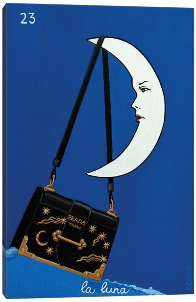 The Moon With Prada Bag Canvas Art Print