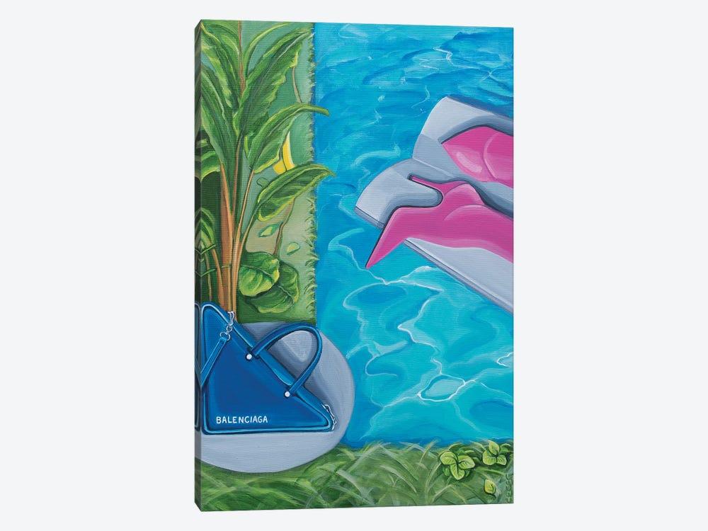 Balenciaga Bag & Boots Around The Swimming Pool by CeCe Guidi 1-piece Canvas Art