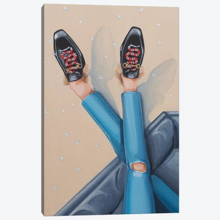 Gucci Snake Loafers On Sofa Canvas Print #CCG37} by CeCe Guidi Canvas Art