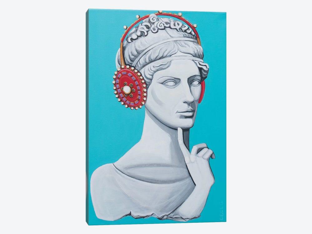 Greco Roman Head With Headphones by CeCe Guidi 1-piece Art Print