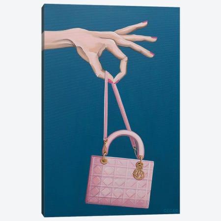 Hand Holding A Dior Bag Canvas Print #CCG42} by CeCe Guidi Canvas Wall Art