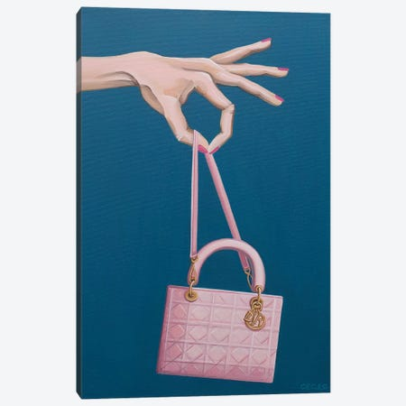 Hand Holding A Dior Bag Canvas Print #CCG42} by CeCe Guidi Canvas Wall Art