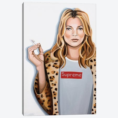 Kate Moss Canvas Print #CCG43} by CeCe Guidi Canvas Artwork