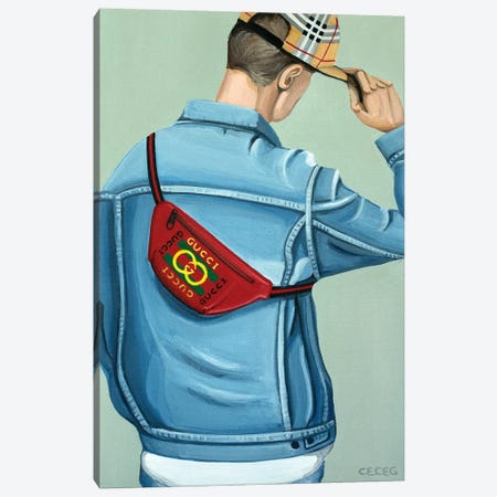 Gucci Logo Beltbag Canvas Print #CCG45} by CeCe Guidi Canvas Print