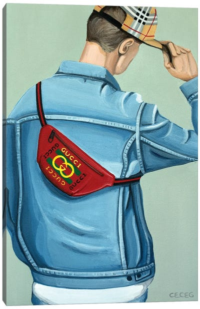 Gucci Logo Beltbag Canvas Art Print