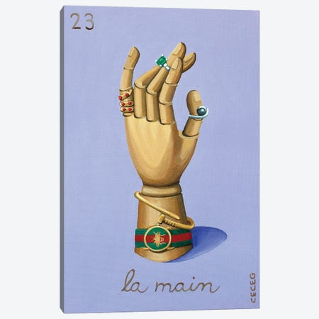 The Hand With Gucci II Canvas Print #CCG46} by CeCe Guidi Art Print