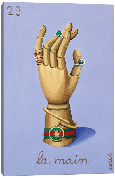 The Hand With Gucci II Canvas Art Print