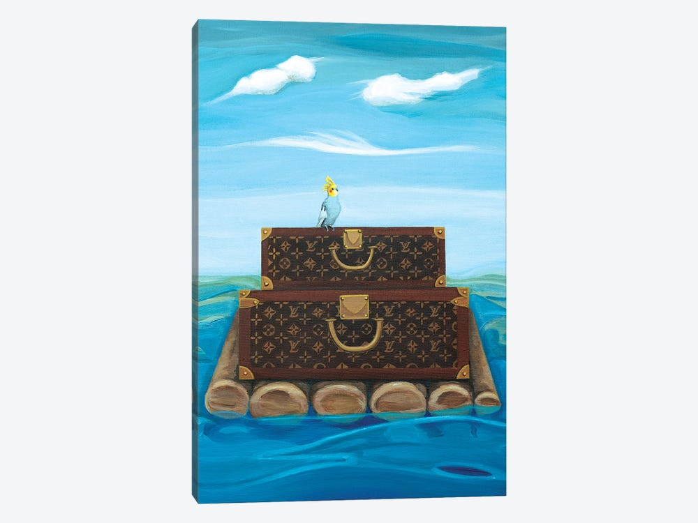 Louis Vuitton Trunks Floating On A Raft by CeCe Guidi 1-piece Canvas Artwork