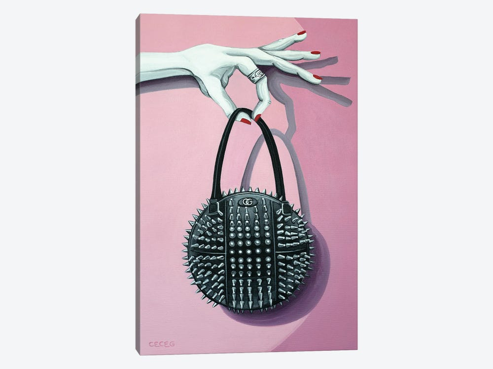 Hand Holding A Gucci Studded Bag by CeCe Guidi 1-piece Art Print