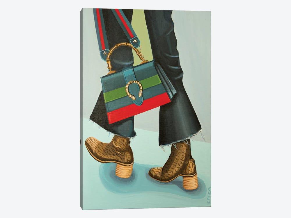 Gucci Dionysus Bag and Fendi Logo Boots by CeCe Guidi 1-piece Canvas Artwork