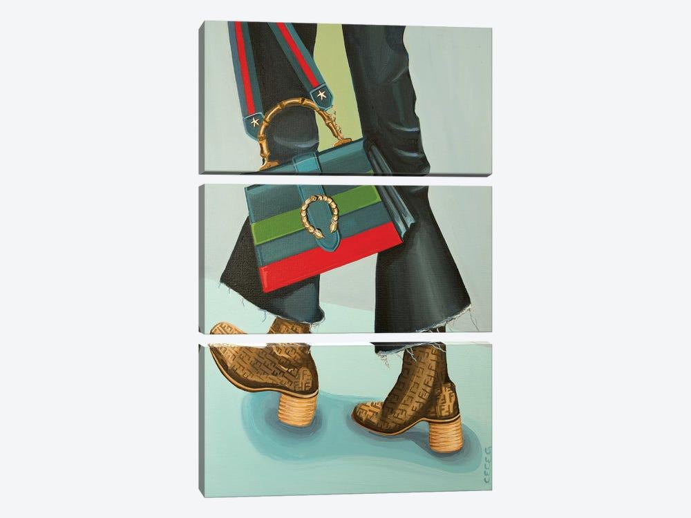 Gucci Dionysus Bag and Fendi Logo Boots by CeCe Guidi 3-piece Canvas Artwork