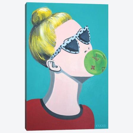 Louis Vuitton Bubblegum Canvas Print #CCG56} by CeCe Guidi Canvas Wall Art