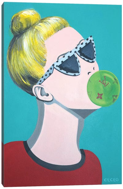 Louis Vuitton Bubblegum Canvas Art Print