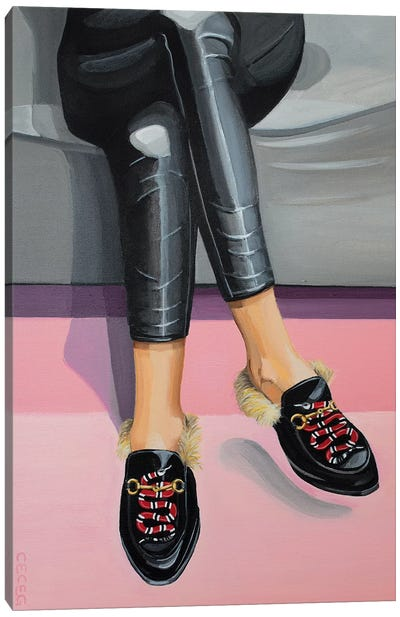 Gucci Snake Loafers Canvas Art Print