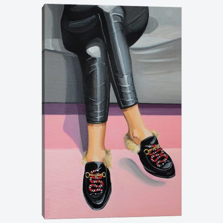 Gucci Snake Loafers Canvas Print #CCG6} by CeCe Guidi Canvas Artwork