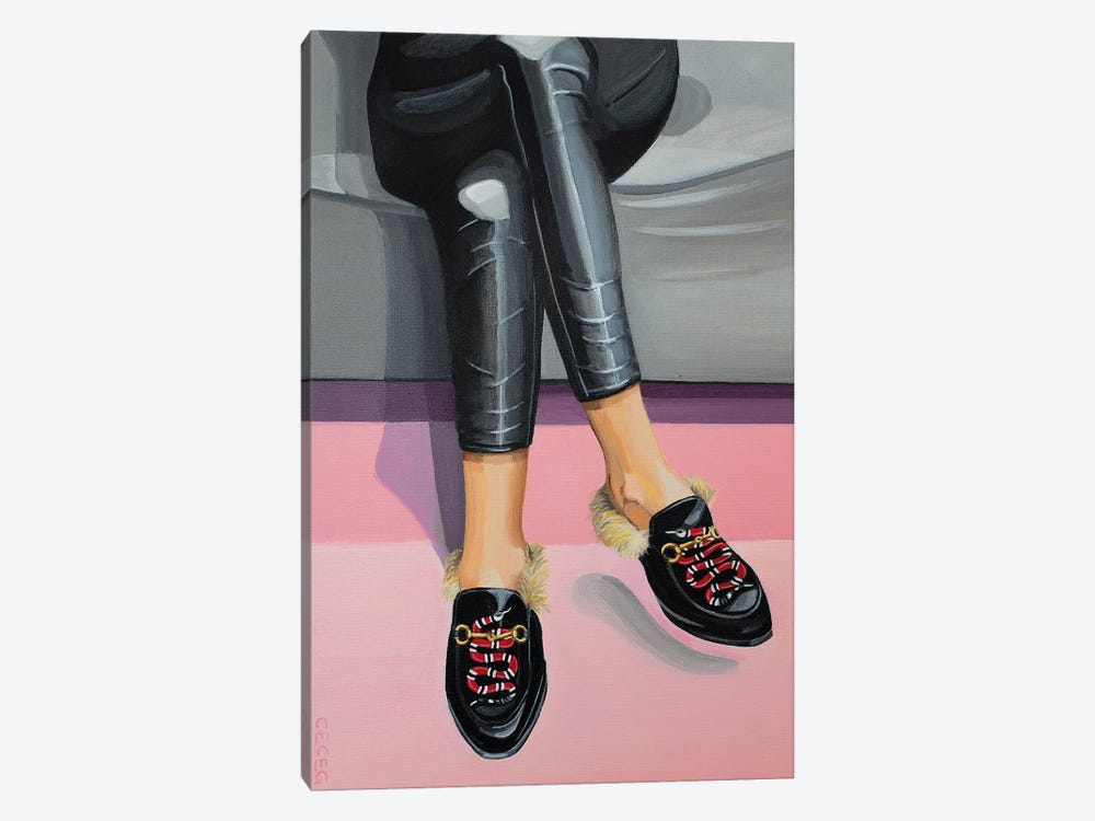 Gucci Snake Loafers by CeCe Guidi 1-piece Canvas Wall Art